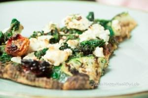 Glutenfreie Blumenkohl Pizza Spinaci