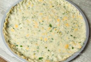 Blumenkohl Pizzaboden glutenfrei und vegetarisch