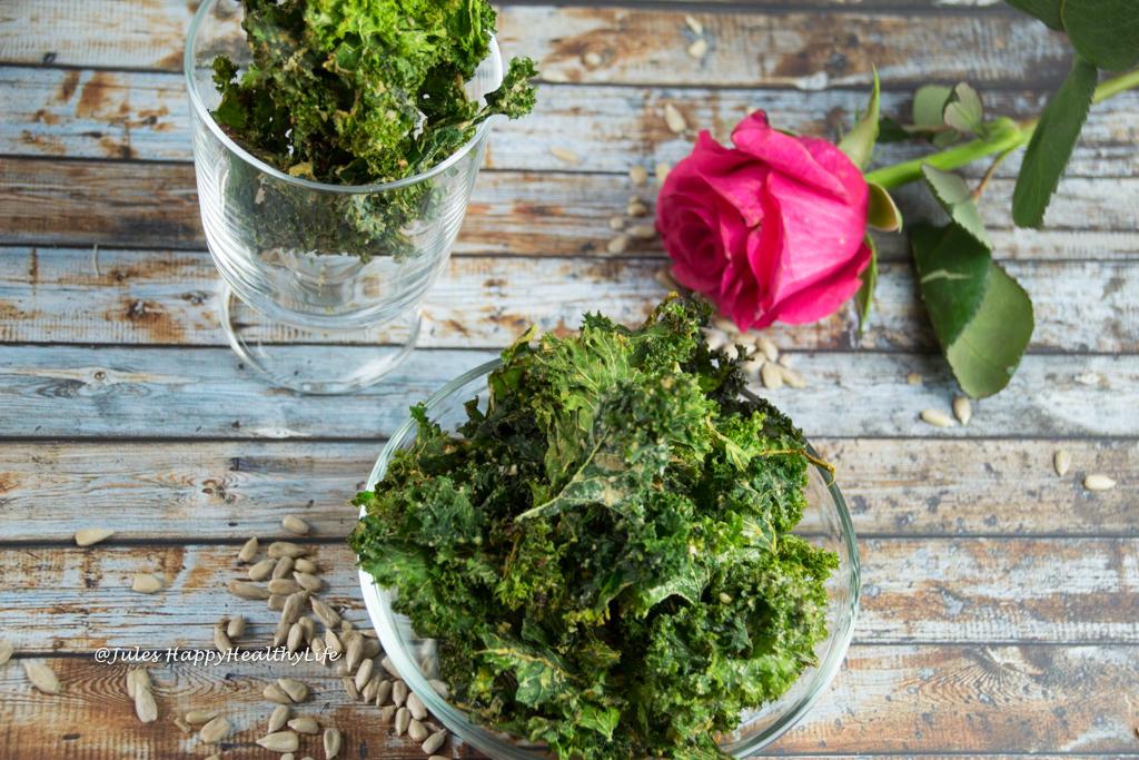 Kalorienarme glutenfreie, vegane Miso Gemüsechips