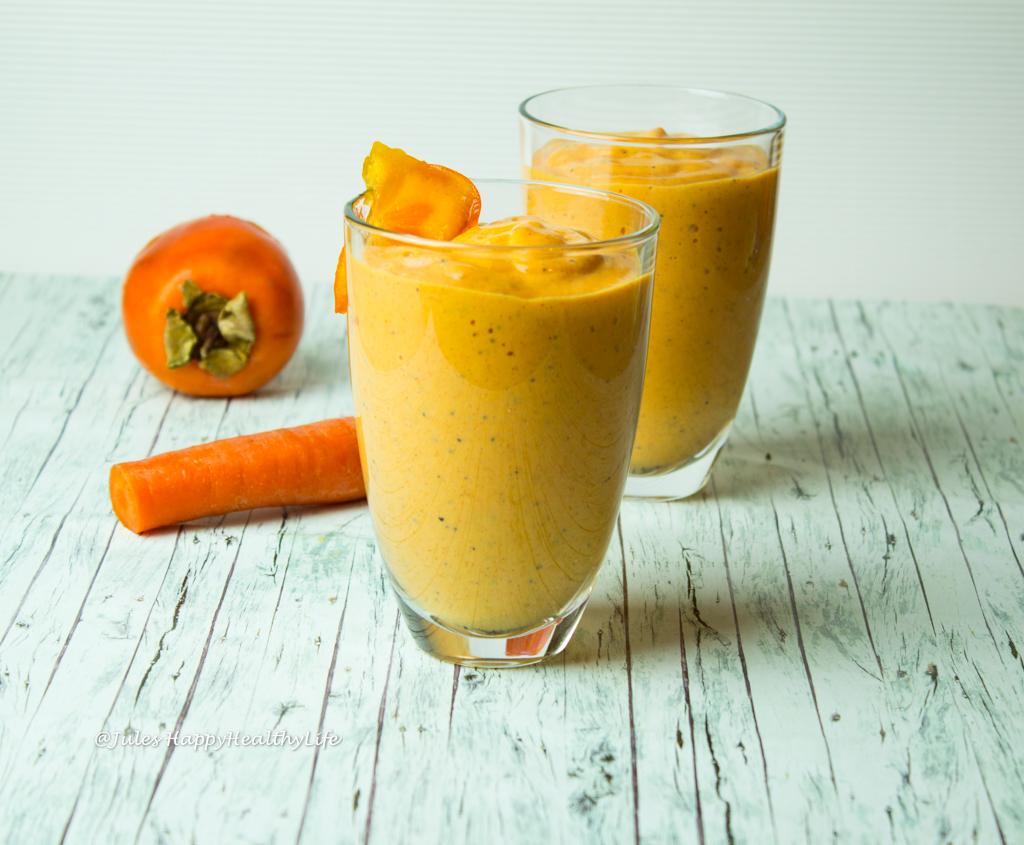 Orange Farbe für Lebensfreude als Probiotischer Oranger Smoothie