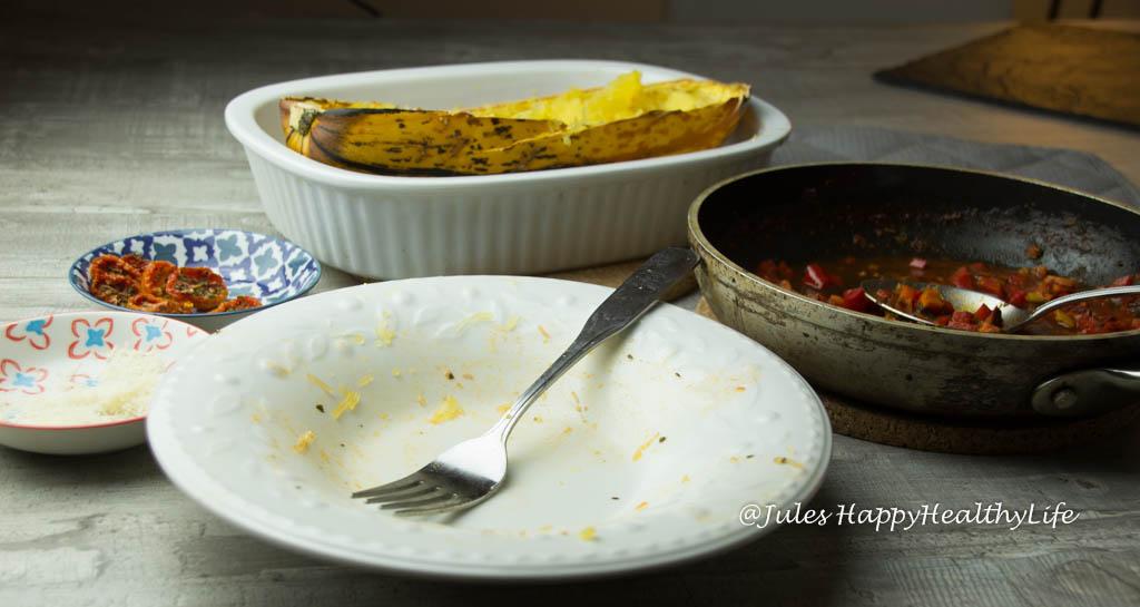 Spaghetti Kürbis mit Vegetarischer Bolognese - JUles HappyHealthyLife