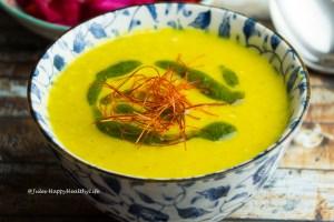 Jerusalem Artichokes Saffron Soup gluten-free, vegan