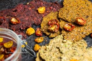 Vegan, gluten free Juice Pulp Crackers that are raw