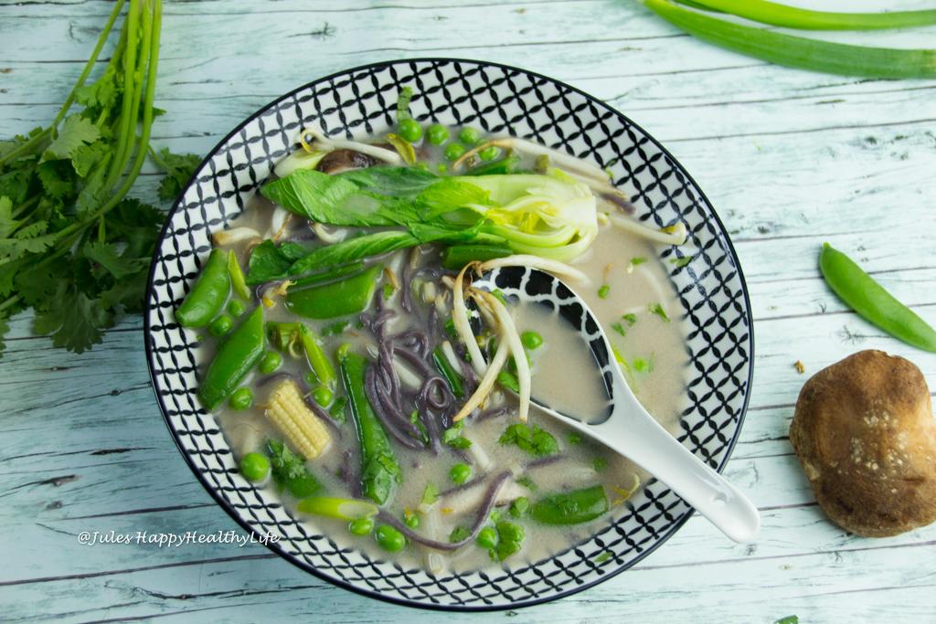 Tom Kha Gai glutenfreies Rezept mit Kokosnuss, Galgant Shitakepilzen