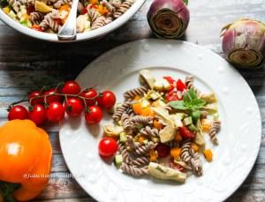 Rezept für vegane, glutenfreier Italienischer Pasta Salat