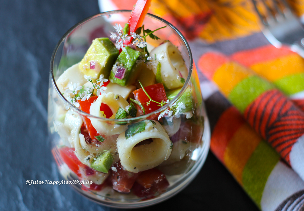 Rezept für veganes Palmherzen Cevice mit viel Gemüse