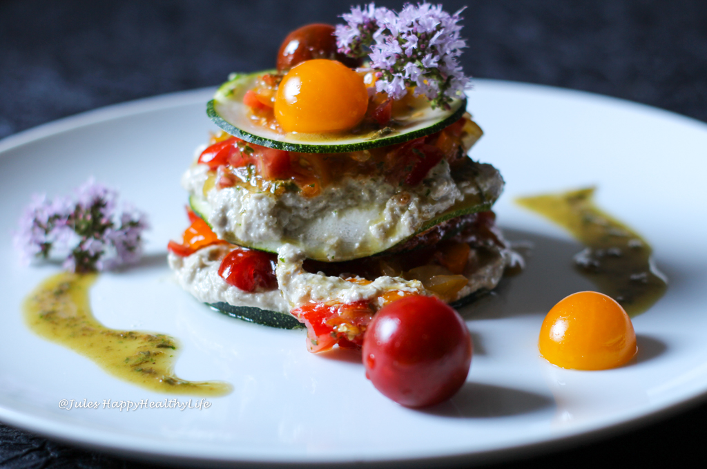 Vegan Raw Truffled Zucchini Lasagne gluten free recipe