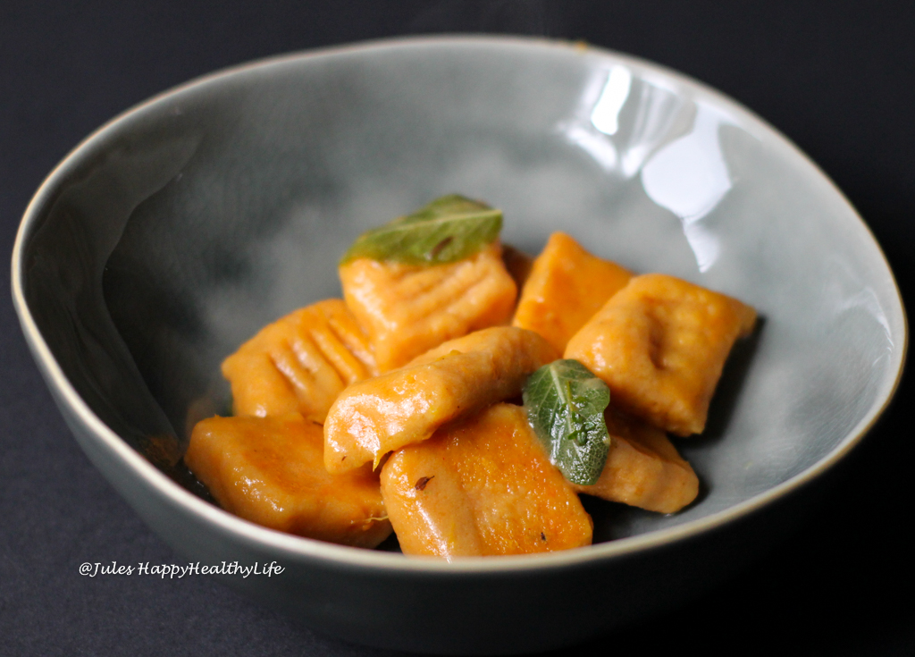 SWEET POTATO GNOCCHI IN SAGE BUTTER (GF)