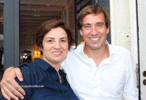 Sommelier Carine Patricio und Jochen Dreissigacker bei Wein am Fluss 2018