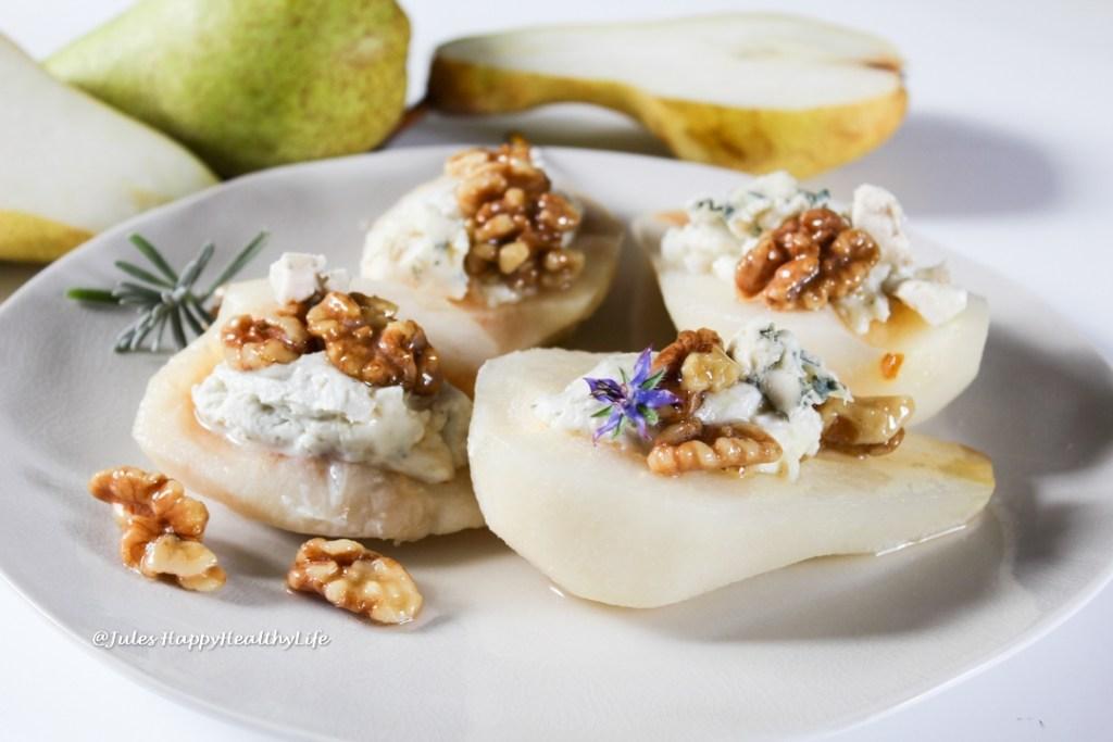 Typisch französische Zutaten Lavendelhonig und Roquefort