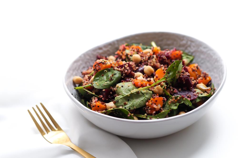 winterlicher quinoa salat mit butternussk rbis julesvogel. Black Bedroom Furniture Sets. Home Design Ideas