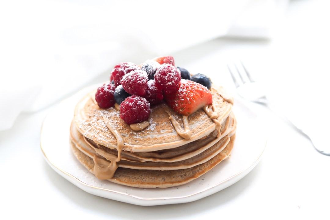 perfekten veganen pancakes