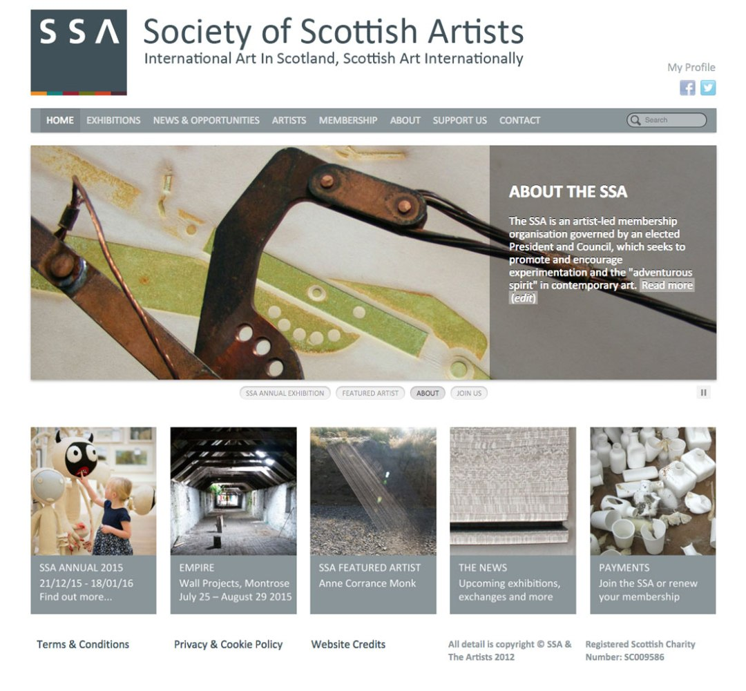 Society Of Scottish Artists, Website by Julia Douglas
