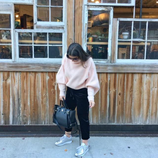 BLUSH BALLOON SLEEVE SWEATER | JULIA MARIE B
