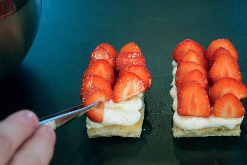 Erdbeeren platzieren
