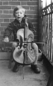 The young Julian Lloyd Webber