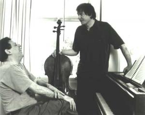 Philip Glass with Julian Lloyd Webber