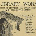 Anuncio de la ALA de 1917/18 para promocionar los estudios de bibliotecario