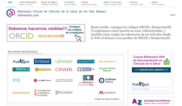 Biblioteca Virtual de Cièncias de la Salut de les Illes Balears