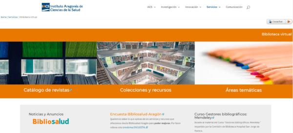 Biblioteca Virtual del Instituto Aragonés de Ciencias de la Salud