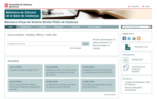 Biblioteca Virtual del Sistema Sanitari Públic de Catalunya