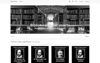 Biblioteca digital abierta textos info