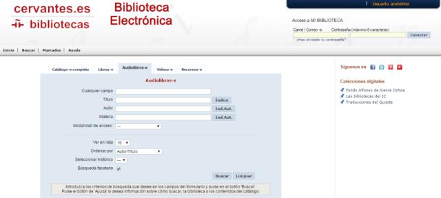 Biblioteca electrónica del Instituto Cervantes