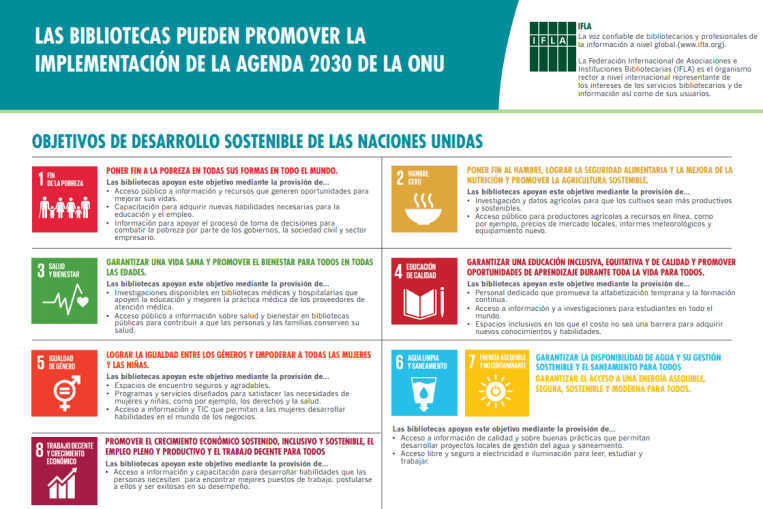 Bibliotecas Agenda 2030 ONU ODS