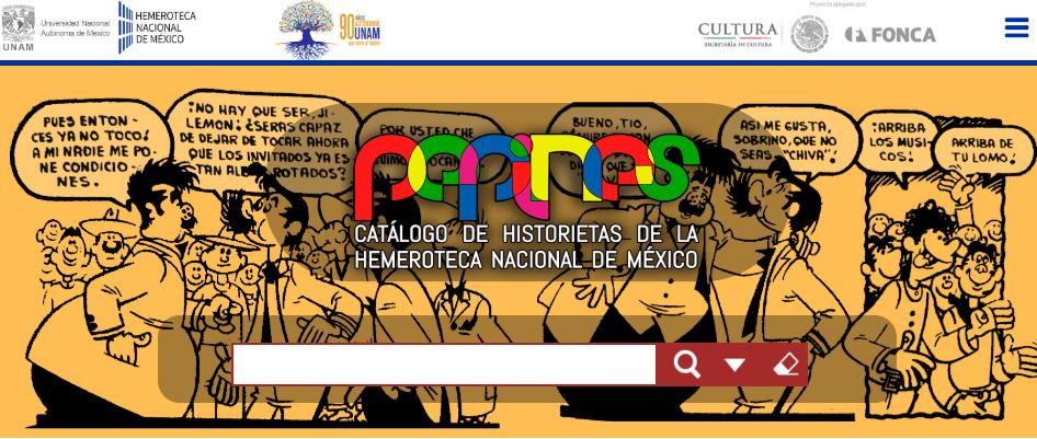 Catálogo de Historietas de la Hemeroteca Nacional Pepines