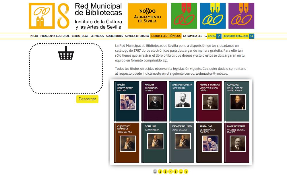 Catálogo libros electrónicos de la Red Municipal de Bibliotecas de Sevilla