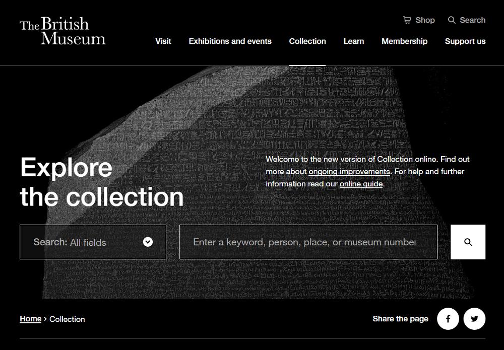 Colección online del Museo Británico