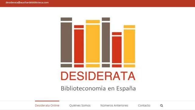 Desiderata Biblioteconomía en España