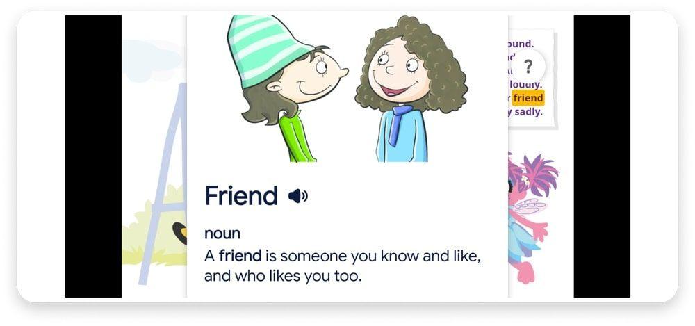 Diccionario libros infantiles para facilitar la lectura en Google Play Books