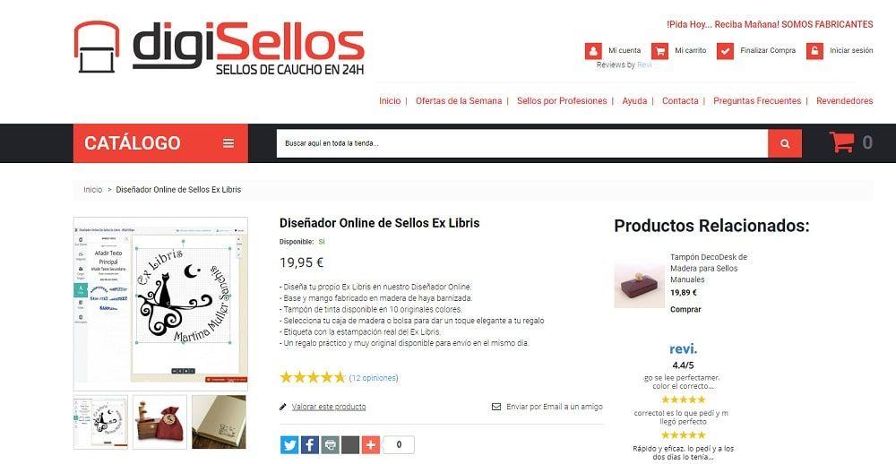 DigiSellos diseñador online de sellos exlibris