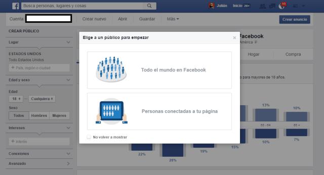 Distintos públicos a analizar en Facebook