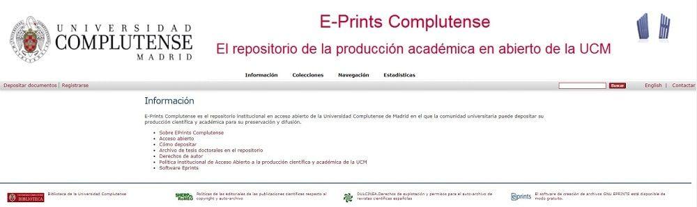 E-Prints Complutense Universidad Complutense de Madrid