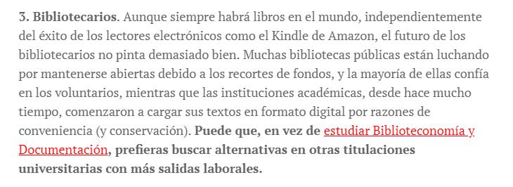 El futuro de los bibliotecarios no pinta demasiado bien