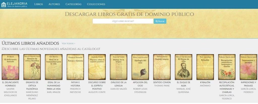 Elejandria libros de dominio público