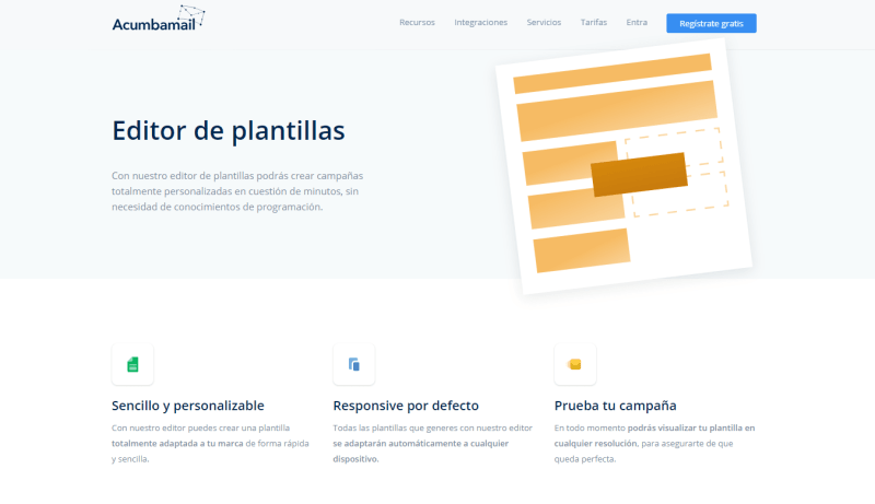 Email marketing con Acumbamail