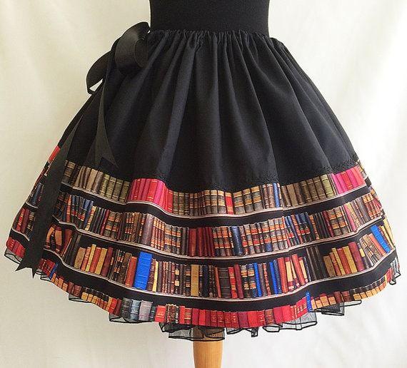 Faldas personalizadas con libros