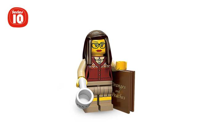 Figura bibliotecaria de LEGO