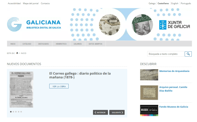 Galiciana. Biblioteca Dixital de Galicia