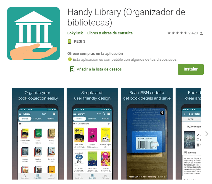 Handy Library Organizador de bibliotecas