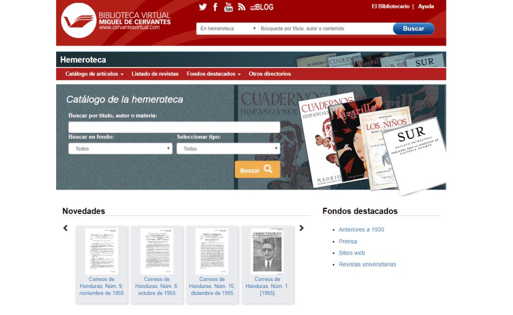 Hemeroteca de la Biblioteca Virtual Miguel de Cervantes