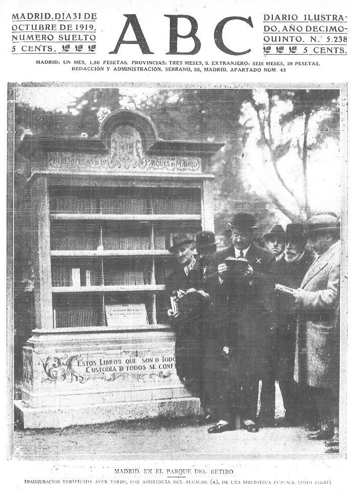 Inauguración de las Bibliotecas de Parques y Jardines
