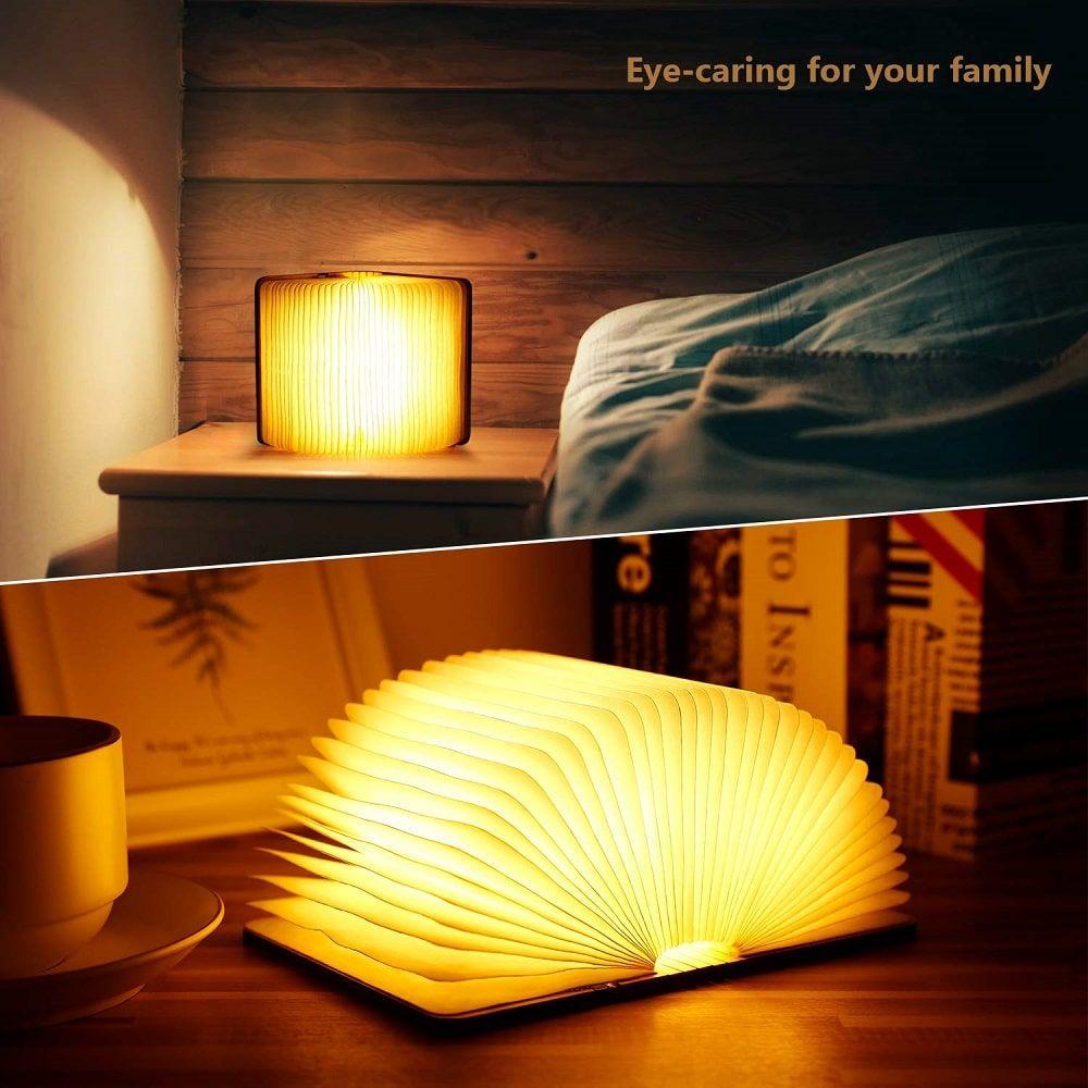 Lámpara con forma de libro abierto