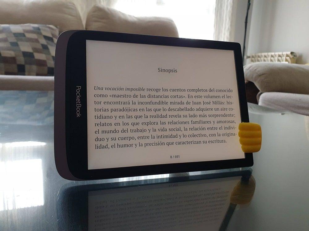 Lectura horizontal PocketBook InkPad 3 Pro