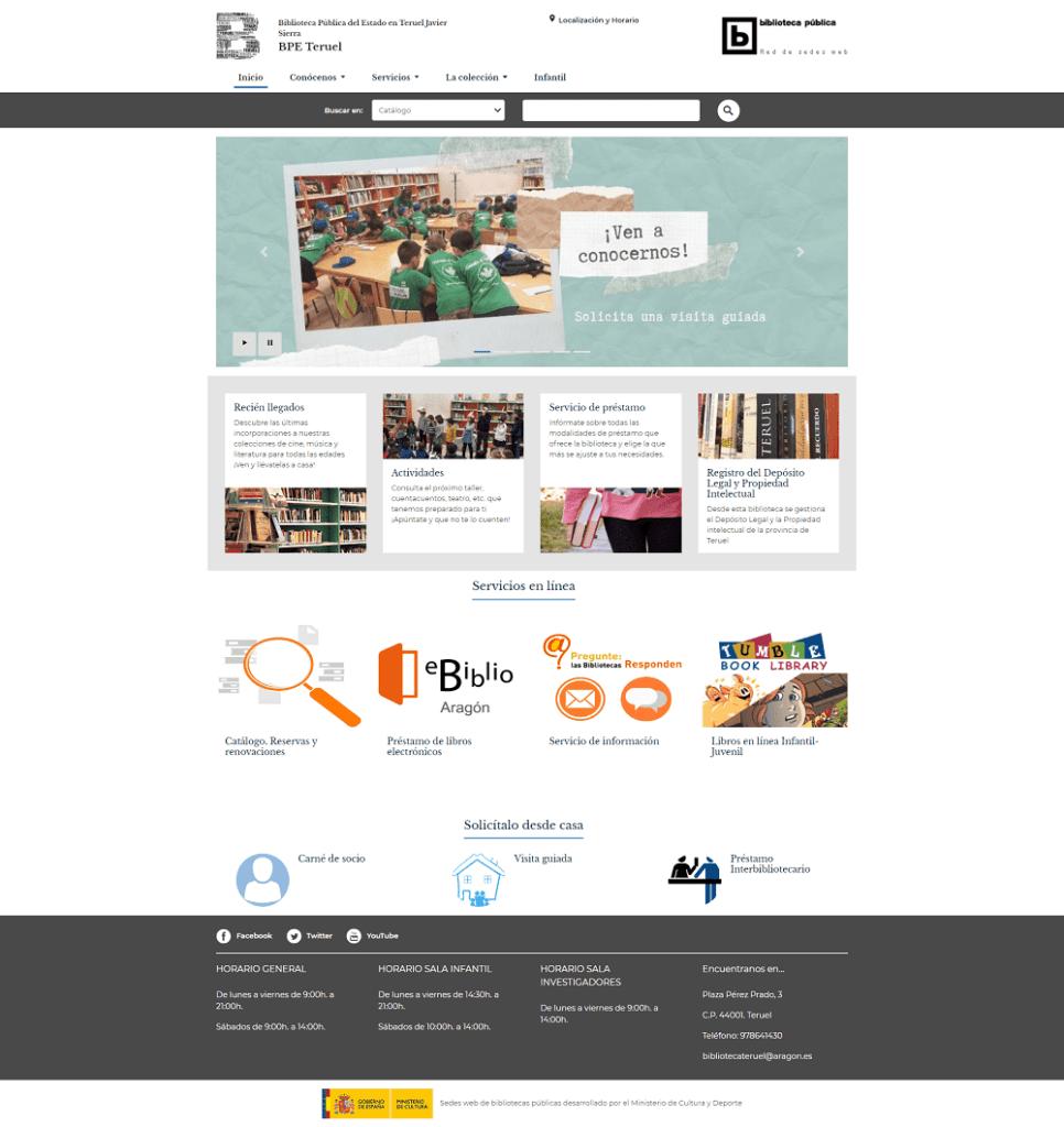 Nuevo sitio web BPE Teruel Javier Sierra