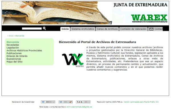 Portal de Archivos de Extremadura