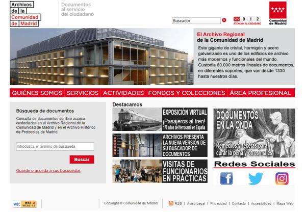 Portal de Archivos de la Comunidad de Madrid